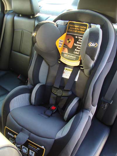 picture of Safety 1st Air Protect Convertible Car Seat Installed