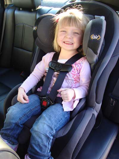 picture of Safety 1st Air Protect Convertible car seat with 3 year old