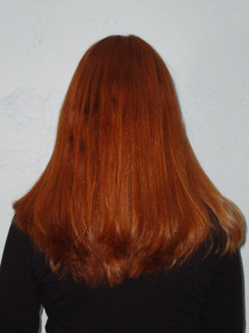 picture of my hair After using Hana Professional Flat Iron