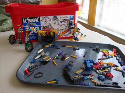 picture of Knex Creations with extra pieces 350 pc Tub