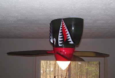 picture of Palm Fan Store Warbird Tiger Shark Ceiling Fan