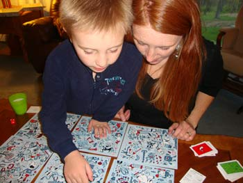 picture of 5 year old playing Pictureka!