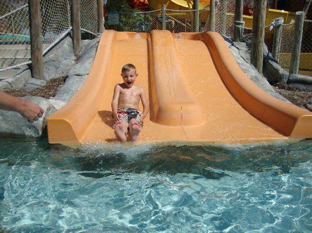 picture of Elijah going down slide