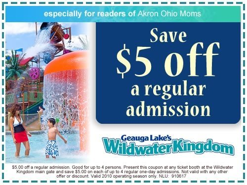 picture of AkronOhioMoms Wildwater Kingdom Coupon