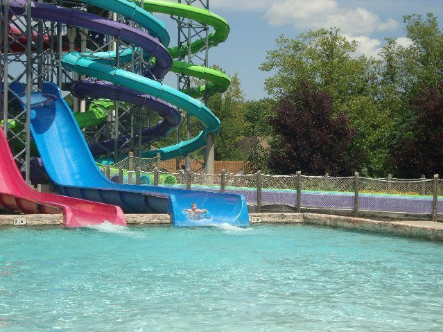 picture of Jacob on Water Slide