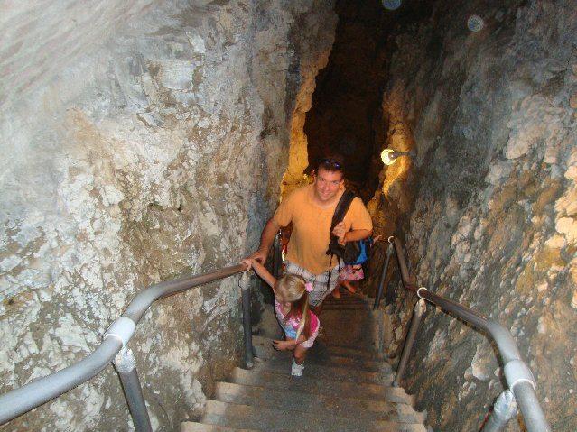 picture of Crystal Cave is 40 feet below Heineman's Winery