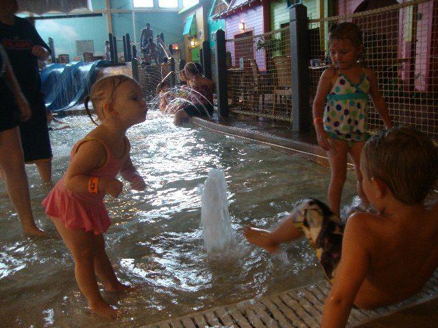 picture of Zero Depth Entry Pool Fountain Fun