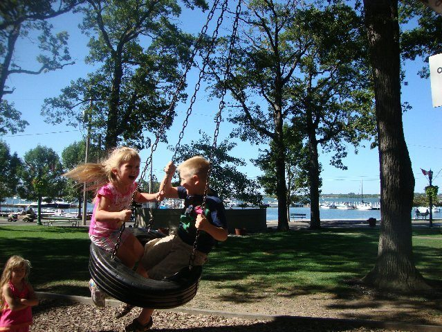 picture of Tire Swing at the Put-in-Bay Playground