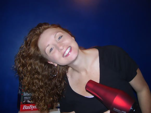 Babyliss Pro Carrera 1750Watt Hair Dryer being used by Cindy Orley