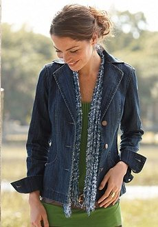 picture of Chadwicks Seamed Denim Jacket