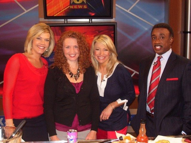 picture of Cindy Orley with Fox 8 Newscasters