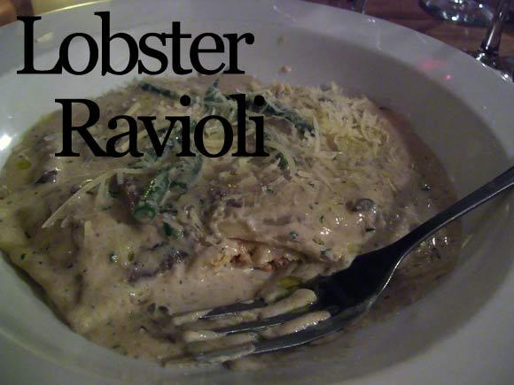 Lobster Ravioli Plate