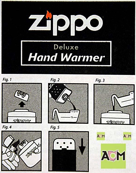 Zippo Hand Warmer Instructions