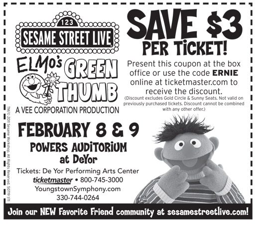picture of Sesame Street Live Coupon