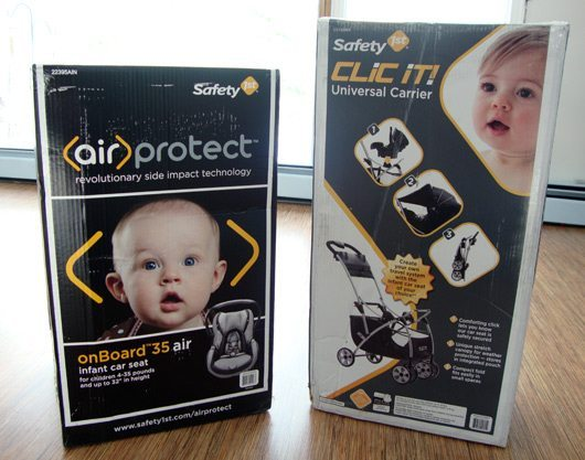 picture of Win Safety 1st onBoard 35 Air Infant Car Seat & Clic It! Universal Carrier