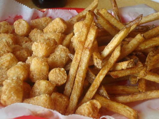 picture of Home made tater tots and hand-cut fries