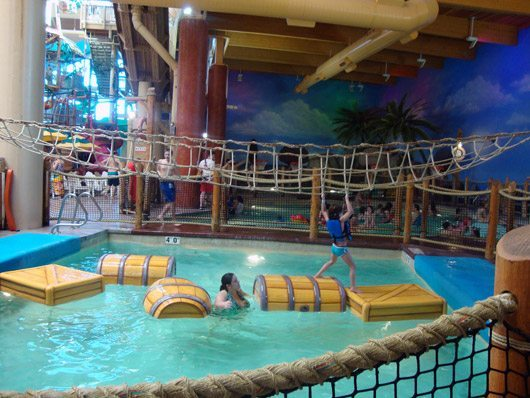 picture of Castaway Bay Hold on to rope & walk from barrel to barrel