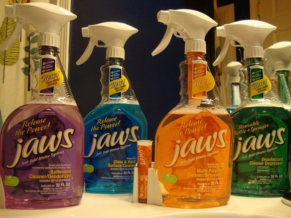 picture of JAWS green whole house cleaning products