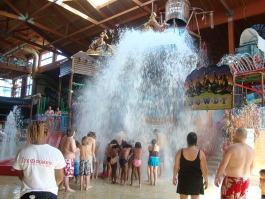 picture of Rascal Round Up Bucket Tipping at Fort Rapids Indoor Waterpark