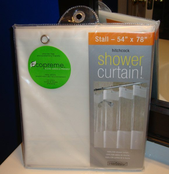 picture of Ecopreme Clean Green & Friendly Shower Curtain