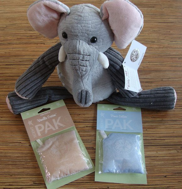 picture of Scentsy Ollie the Elephant with 2 Scent Paks