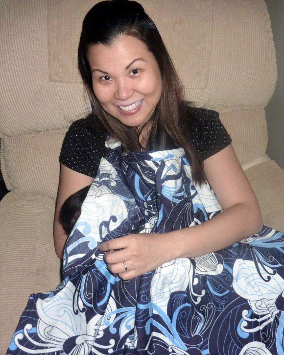 picture of Using Bebe Au Lait Nursing Cover