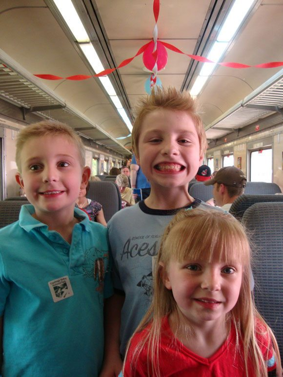 picture of CVSR train decorated for Day Out with Thomas