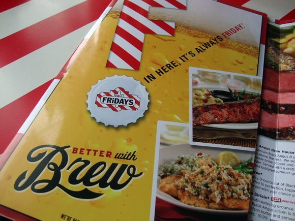picture of TGI Fridays Better with Brew Menu