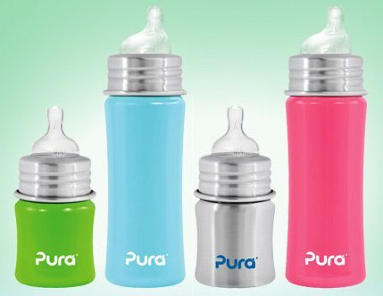 picture of Pura Stainless Steel Baby Bottles and Sippy