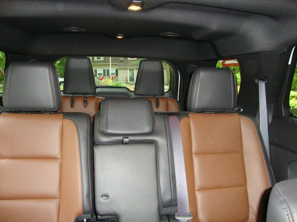 picture of 2nd and 3rd row seating in Ford Explorer