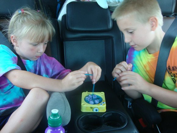 picture of Kids playing in 2nd row of Ford Explorer