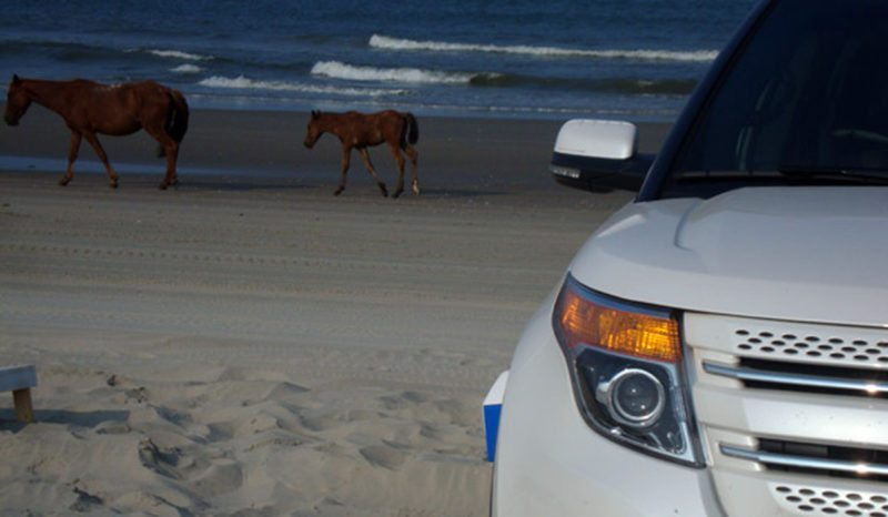 ford explorer on the beach