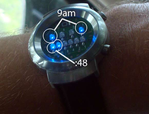 Binary Watch Tells Time