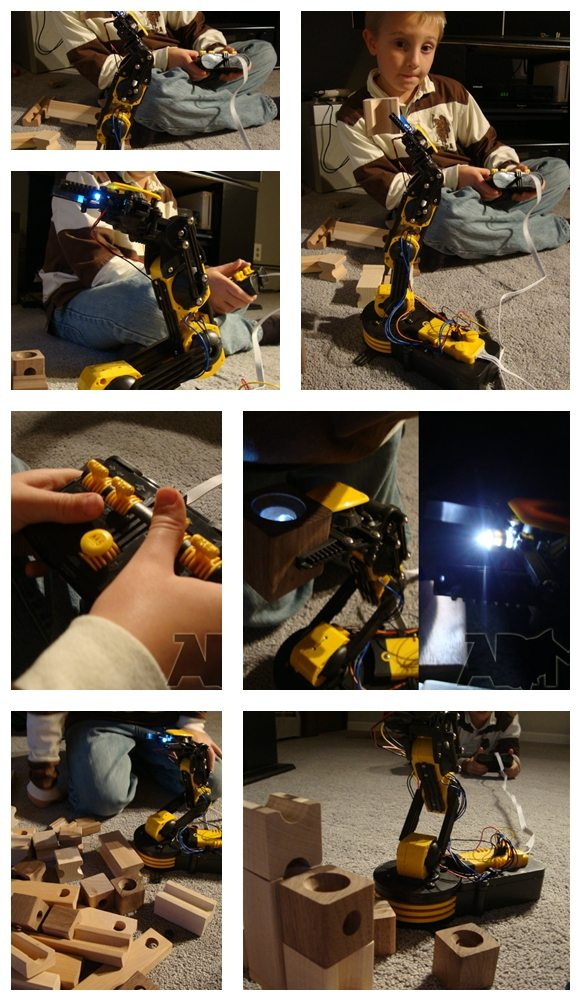 Collage of Robot Arm Images