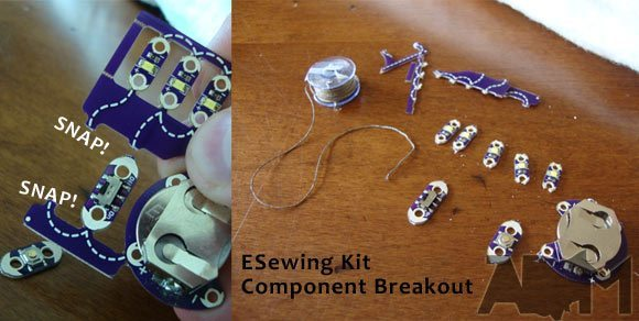 Breaking Apart LilyPad ProtoSnap Components