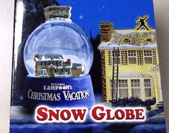 Christmas Vacation Snow Globe with RV top and Griswpld House inside
