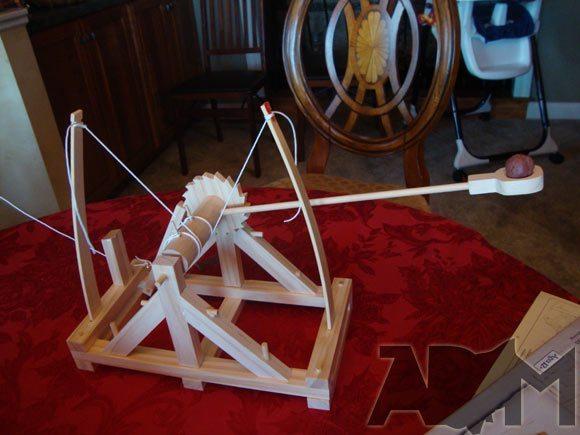 Leonardo Da Vinci Catapult Kit Built from Kit
