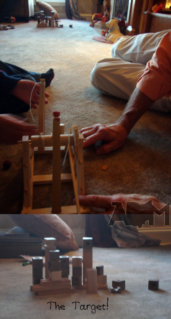 Launching the Leonardo Da Vinci Catapult from a Kit