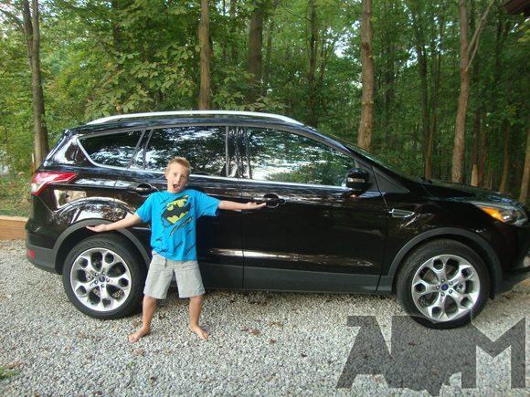 My son with 2013 Ford Escape