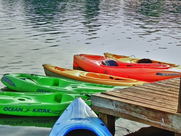 Canoeing and Kayaking are included in the fun at Clay's Park Resort.