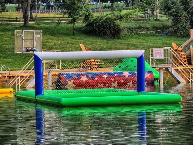 Chill Zone inflatable valley ball court at Clay's Park Resort.