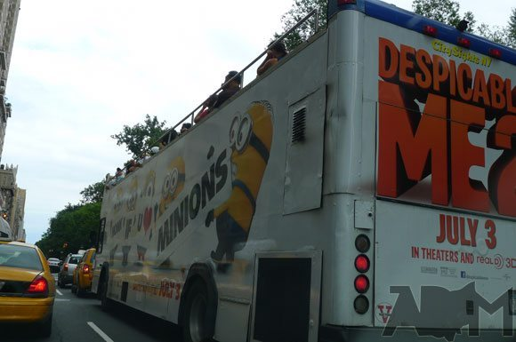 Disney Despicable Me 2 Bus in New York City