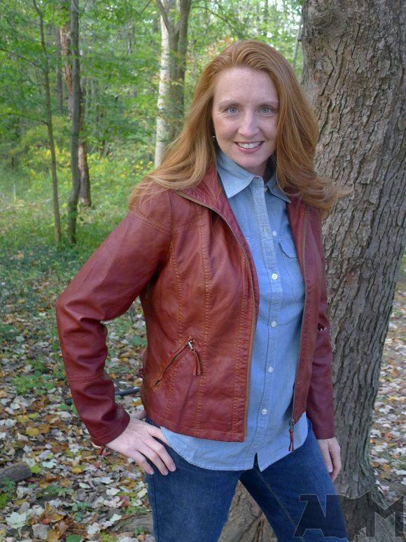 Sebby Faux-Leather Motorcycle Jacket