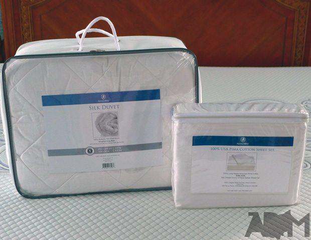 NovosBed Silk Duvet & Pima Sheets