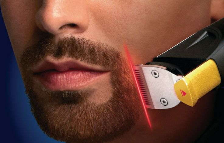 The Philips Norelco Beard Trimmer 9100 features the world's first laser guide.