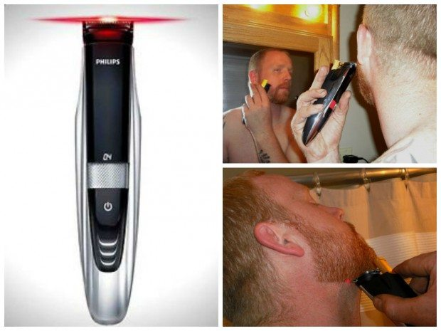 Mike easily lines up his beard with the Philips Norelco Beard Trimmer 9100.