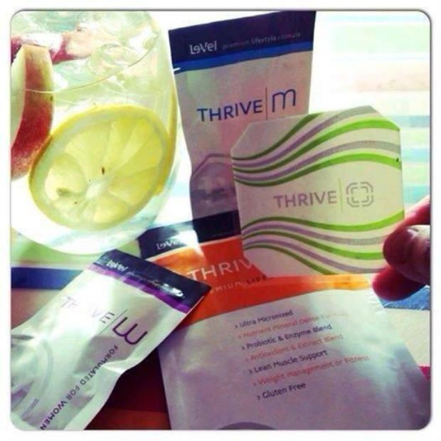 Here is what one day of THRIVE product looks like.  1 packet of supplements, followed 20 minutes later by a shake, and slap your DFT patch on and you are done!