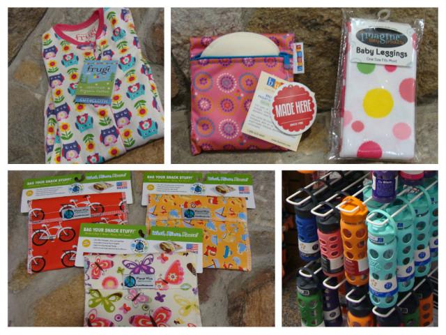 My goodies: Frugi romper, Nursing pads, Leggings, Re-useable bags and Lifefactory water bottles!