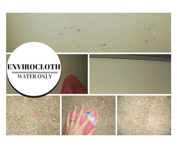 The Norwex Enviro Cloth can be used on old stains, crayon on walls, in your car, kitchen, bedroom, bathroom...ANYWHERE!