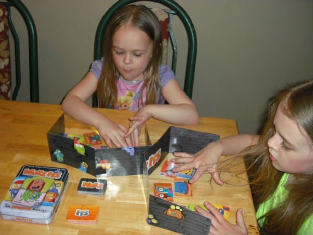 Claire and Grace love playing games before bed.